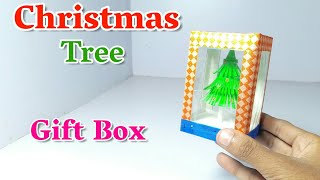How To Make A Christmas Tree Gift Box | DIY Art And Craft | Christmas Tree Making Craft