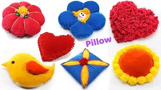 7 CREATIVE PILLOWS IDEAS from OLD  CLOTHES & SAREE