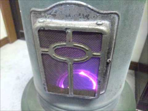 Original Haller Blue Flame Heater Youtube
