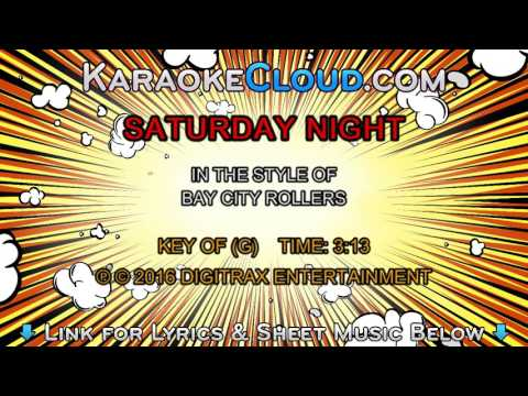 Bay City Rollers - Saturday Night (Backing Track)
