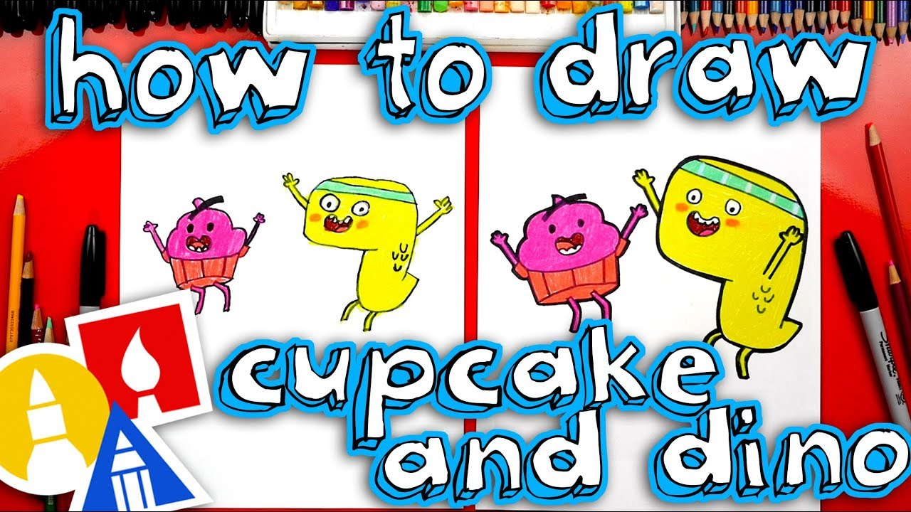 How To Draw Cupcake And Dino General Services