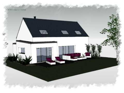 Arteco 303 Maison 2 pans contemporaine - YouTube