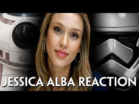 Jessica Alba's reaction to Star Wars teaser #2