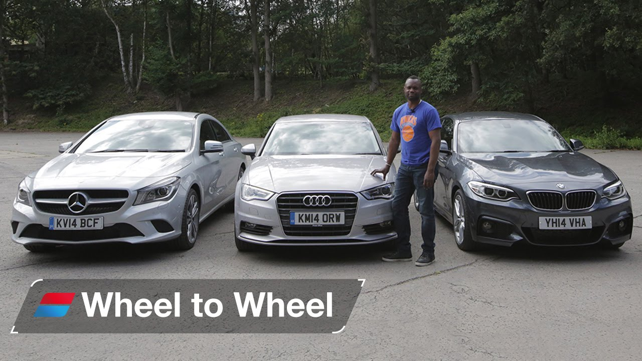 bmw 2 series coupe vs mercedes-benz cla vs audi a3 saloon video 4