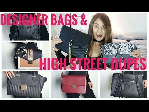 08ac4da243 Designer Bags & High Street Dupes: Featuring CHLOE, YSL, CELINE! - YouTube
