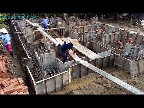 World Amazing Techniques Mixer Machine Building Foundation Concrete - Technical Construction House