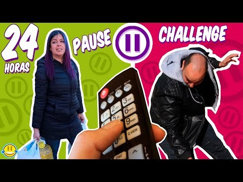 THE PAUSE CHALLENGE With FAMILY For 24 HOURS!! | funny Moments | Jordi y Bego