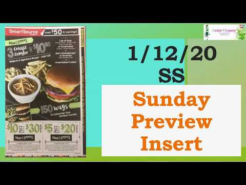 Some great coupons 1/12/20 SS Insert Preview | 2020 Sunday Insert Schedule