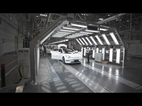 Tesla China - Shanghai Gigafactory production line - 上海  #gigashanghai
