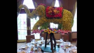 Floral Sculptures By Table Art & Event Designs