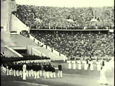 Hitler in 1936 Olympics-- rare video!!!!