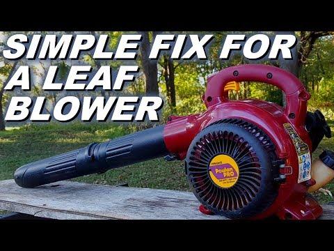 Repeat Homelite Blower Vacuum Pull Starter Spring Repair