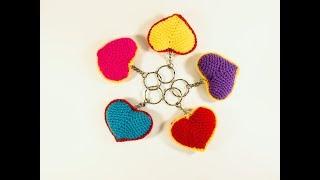 Как вязать сердечко крючком/How to crochet a heart