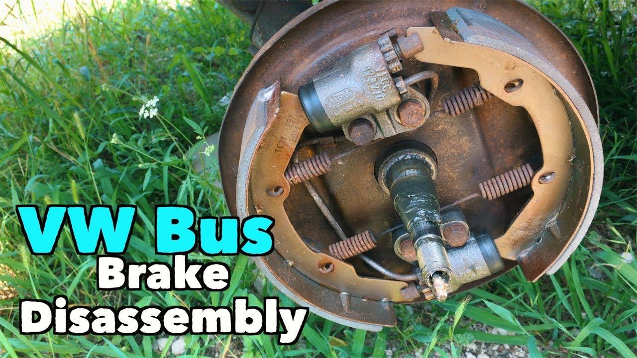 vw bus front drum brake disassembly micbergsma Brake System