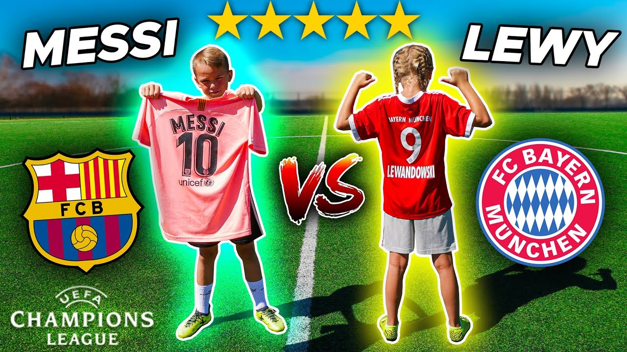LIGA MISTRZÓW 1/4 FC BARCELONA vs BAYERN 🔥 MESSI vs LEWANDOWSKI ⚽