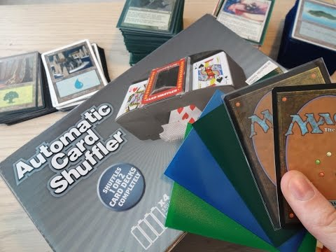 Will an automatic card shuffler work on magic cards? + tests with sleeves -MTG