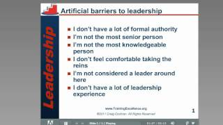 Artificial barriers to leadership