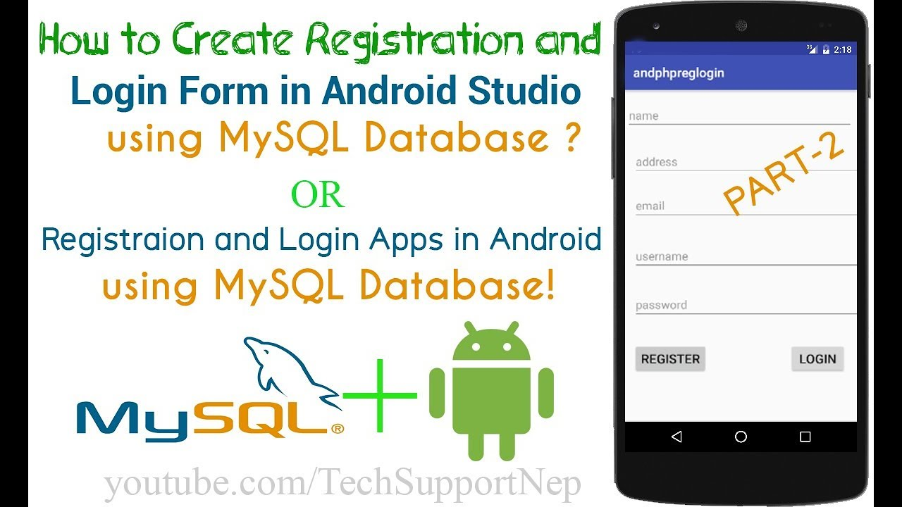 How to Create Registration and Login Form in Android using MySQL