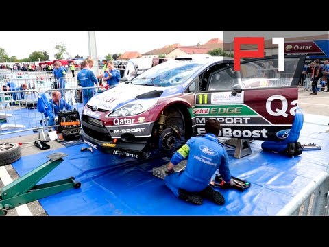 Loeb & Neuville WRC France 2013 behind the scenes service