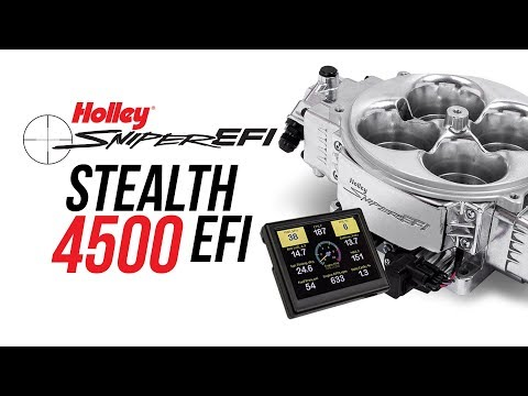 Holley Sniper Stealth 4500 EFI - YouTube