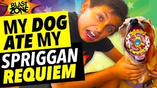 My Dog Ate My Spriggan Requiem! Beyblade Burst Battle and Funny Dog Prank !