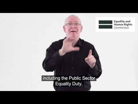 EHRC: Who we are we, What we do British Sign Language version