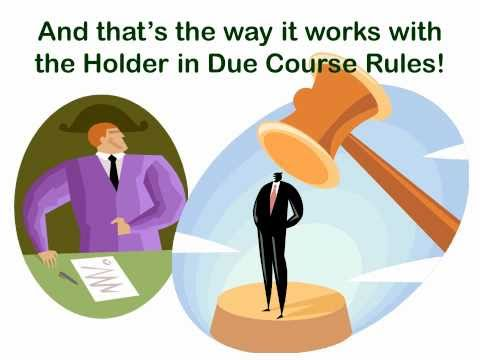 The Holder in Due Course Blues