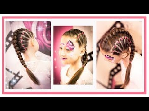 == ( GIRLS HAIR STYLE WITH BRAIDS ) == Coiffure enfant avec tresse