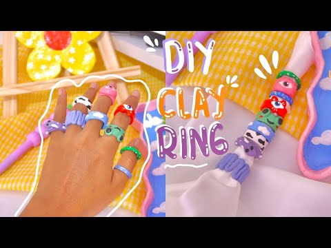 Diy chunky clay ring | indonesia | soniashsp - YouTube
