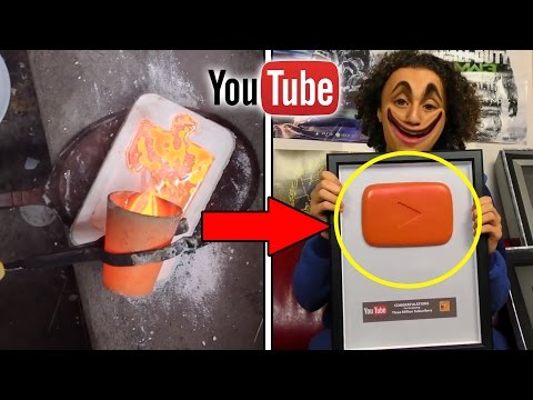 10 YouTube Play Button Rewards You WONT BELIEVE EXIST! (Deadly Mercury, Molten Silver And More)