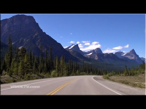 Icefields Parkway Motorcycle Ride. Canadian Rockies
