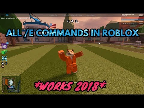 ALL /E COMMANDS IN ROBLOX!! (WORKS 2020)