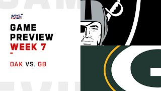 Oakland Raiders vs. Green Bay Packers Week 7 NFL Game Preview