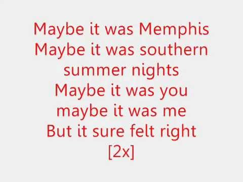 Maybe It Was Memphis  Pam Tillis Lyrics