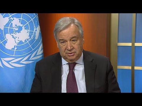 BM Genel Sekreteri euronews'e konuştu: Virüse karşı savaş halindeyiz; savaş ekonomisine geçme…