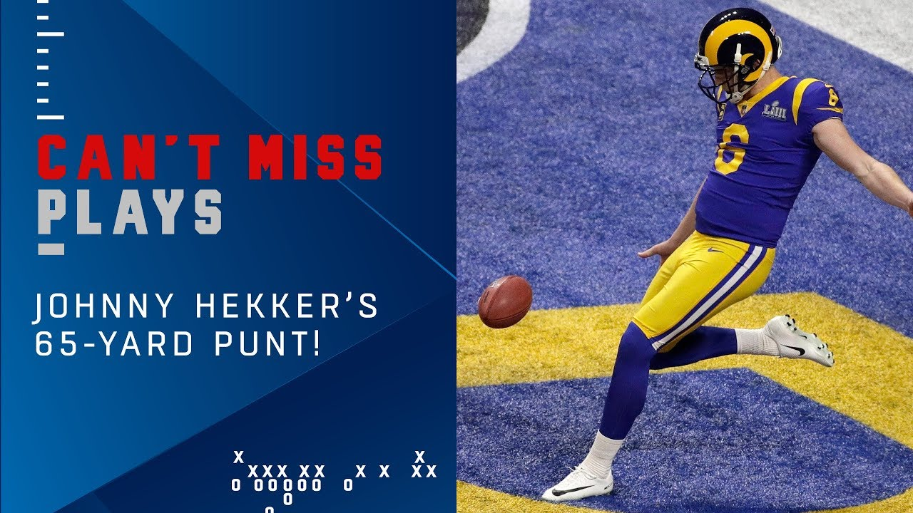 Johnny Hekker Boots the Longest Punt in Super Bowl History! | Super Bowl LIII Can't-Miss Play