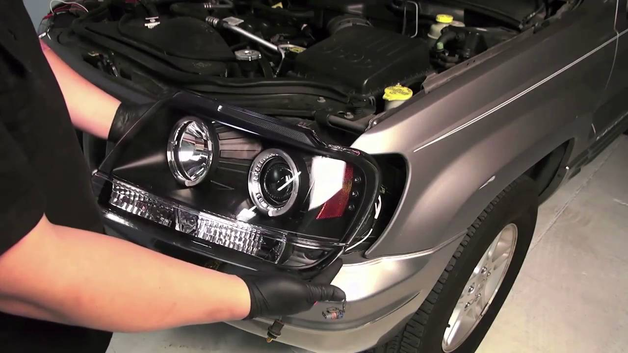 spyder auto installation 1999 2004 jeep grand cherokee halo jeep xj shark grill jeep xj halo headlights wiring [ 1280 x 720 Pixel ]