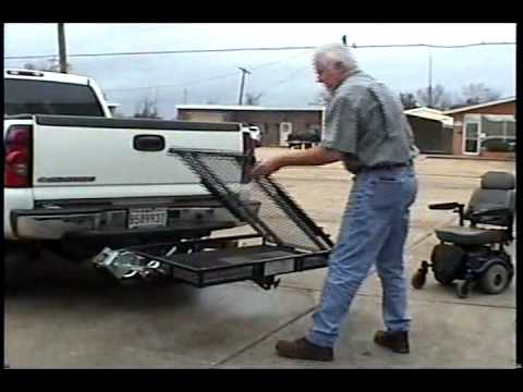 wheelchair hauler how much does a high chair cost tilt n tote carrier youtube