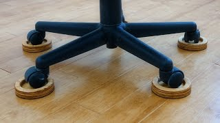 Save Your Wood Floor From The Evil Office Chair With These Diy Caster Coasters Youtube