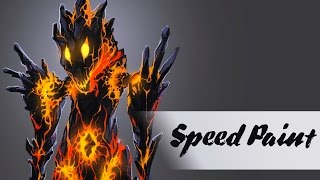 Speedpaint - Drawing Lava Creature