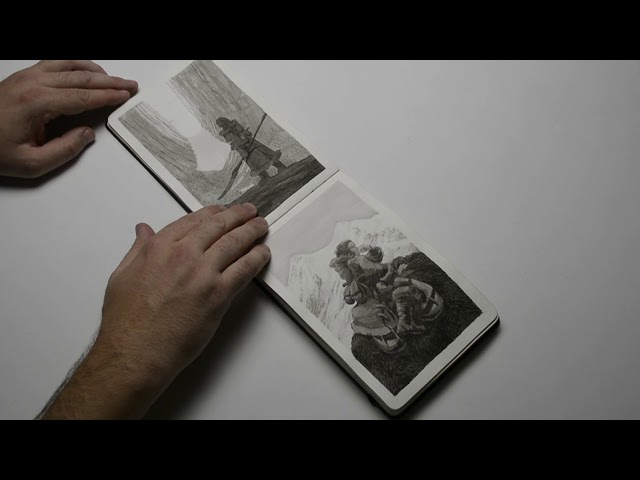 Bear Empress – Watercolor Moleskine sketchbook 001