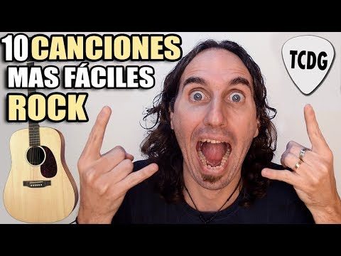 Estas Son Las 10 Canciones De ROCK Más Fáciles Que Hay En Guitarra! (Ideal Para Principiantes) TCDG