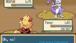 Pokemon Fire Red Walkthrough Part 56: Catching Mewtwo!