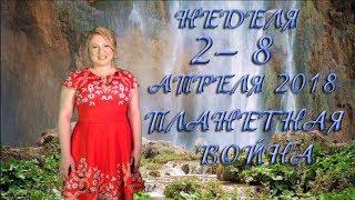 НЕДЕЛЯ 2– 8 АПРЕЛЯ. ПЛАНЕТНАЯ ВОЙНА. Ведическая астрология