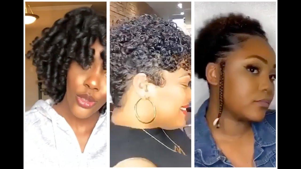 Simple Natural Hairstyles Flexi Rod Set Flat Ironing