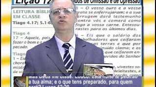 Lição 12: Os Pecados de Omissão e de Opressão, 1pte, 3Tr14, Ev Henrique, EBD NA TV