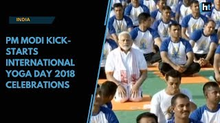 Watch: PM Modi kick-starts International Yoga Day 2018 celebrations in Dehradun