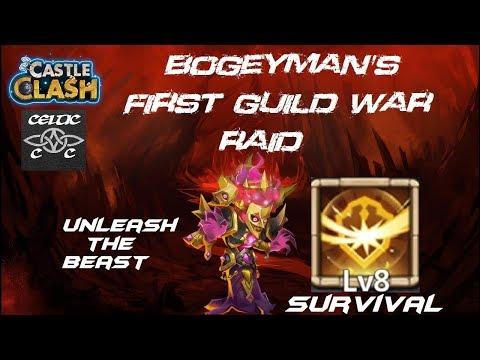 Bogeyman's First Guild War Raid (Survival Level 8 Talent) Castle Clash