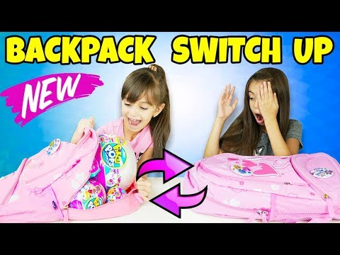 The BACKPACK SWITCH UP CHALLENGE - Pikmi Pops Surprise Season 2 vs Real Food