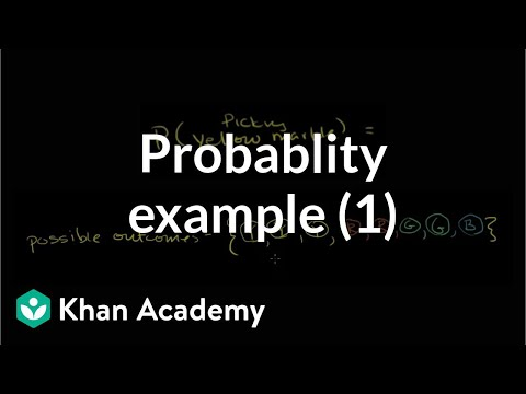 Finding probability example | Probability and Statistics | Khan Academy